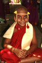Happy Young Indian Monk Stock Image - 2406001
