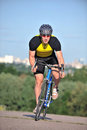 Cyclist Riding A Bicycle Royalty Free Stock Photo - 24005325