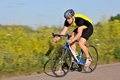 Cyclist Riding A Bicycle Royalty Free Stock Photos - 24005328