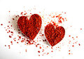 Red Hot Chili Hearts Royalty Free Stock Photos - 24013608