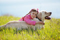 Happy Child Playing With Dog Royalty Free Stock Photography - 24014527