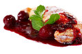 Cherry Strudel Close-up Royalty Free Stock Photo - 24020635