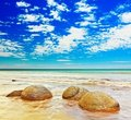 Moeraki Boulders Royalty Free Stock Photo - 24022415