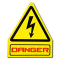 The Sign Of Danger Of Electricity Royalty Free Stock Image - 24033576