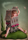 Illustration To The Fairy Tale Alice In Wonderland Stock Images - 24040214