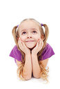 Happy Girl Daydreaming Stock Photos - 24041743