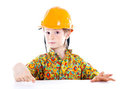 Little Boy With Helmet Royalty Free Stock Photos - 24055858