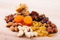 Dried Fruits And Nuts Royalty Free Stock Images - 24056019