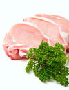 Pieces Of Meat And Parsley Stock Images - 24058024
