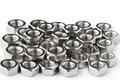 Pile Of Stainless Steel Nuts Stock Photos - 24058523