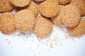 Cookies With Sesame Seeds Royalty Free Stock Images - 24063289