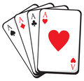 Four Aces. Vector Illustration Stock Images - 24068814