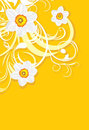 Ornamental Background With Daffodils Royalty Free Stock Images - 24070399