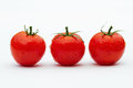 Three Tomatoes Side By Side Stock Image - 24073041