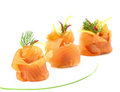 Smoked Salmon Appetizer Stock Image - 24074601