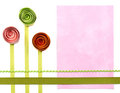 Three Quilled Paper Flowers For Background Stock Photos - 24080763