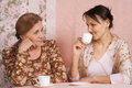 A Nice Older Woman With Her Adult Daughter Stock Images - 24085784