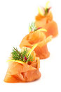Smoked Salmon Appetizer Royalty Free Stock Photography - 24087257