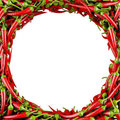 Frame Made Of Chili Pepper Stock Images - 24092194