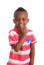 Afro American Black Child Smiles Isolated 7 Stock Photos - 24093553