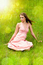 Young Girl On The Meadow Stock Photography - 24098202