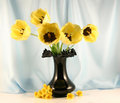 The Bouquet Of Yellow Tulips Royalty Free Stock Photography - 2410387