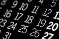 Black Calendar Royalty Free Stock Images - 2416779