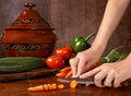 Vegetable Slicing Stock Photos - 2419893