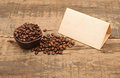Old Paper For Recipes And Coffee Beans Royalty Free Stock Photo - 24112635