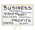 Business Related Words Cloud On Magnetic Board Stock Photography - 24129112