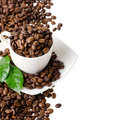 Cup Of Coffee Beans Royalty Free Stock Photography - 24131507