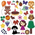 Scrapbook Objects On White Background Stock Image - 24134541