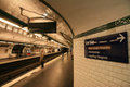 Inside View Of Paris Underground Royalty Free Stock Photography - 24134707