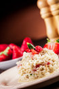 Sweet Risotto With Strawberries Royalty Free Stock Photo - 24135135