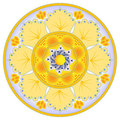 Dish Decoration With Abstract Orange Flower Royalty Free Stock Images - 24136969