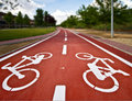 Bike Path On A Park Royalty Free Stock Photography - 24138967