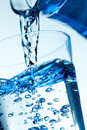 Close-up Of A Pouring Water Into A Glass. Royalty Free Stock Photography - 24151947