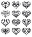 Heart-shaped Floral Decorations Royalty Free Stock Photos - 24152658