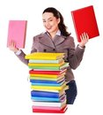 Woman Holding Book. Royalty Free Stock Photography - 24154077