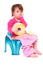 Girl On The Pot Royalty Free Stock Images - 24155409