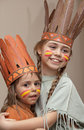 Two Little Girls In Indian S Dresses Royalty Free Stock Image - 24158576