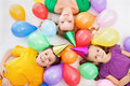 Party Kids And Their Mother Stock Image - 24159701