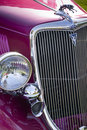 Classic Car With Gleaming Grille Work Stock Photo - 24160710