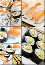 Sushi Collage Royalty Free Stock Images - 24168289