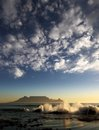 Table Mountain With Clouds, Cape Town Stock Image - 24171251