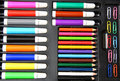 Colorful Paperclips,pencils And Hilighters Stock Photos - 24174523