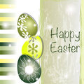 Green And Yellow Easter Card Stock Photos - 24176183