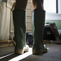 Green Rubber Boots. Royalty Free Stock Photo - 2425165