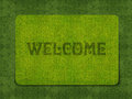 Welcome Doormat Royalty Free Stock Photo - 24206645