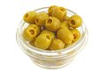 Green Olives In A Bowl Stock Photography - 24216262